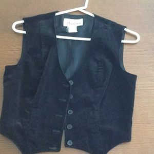 Jackets & Blazers - Vintage Black Velvet Vest